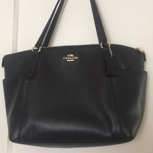 Coach Ava tote in Midnight (navy blue), used
